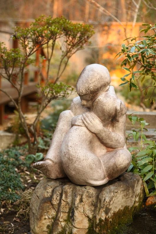 Boy and Dog Garden Statue-1184